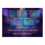 "Colorful Glow in the Dark Party Invitations 5"" X 7"" Invitation Card"