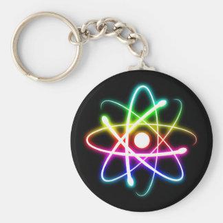 Colorful Glowing Atom   Geek Keychain