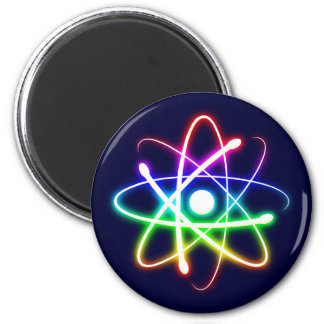 Colorful Glowing Atom - magnet