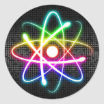 Colorful Glowing Atom - modern sticker