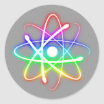 Colorful Glowing Atom - sticker