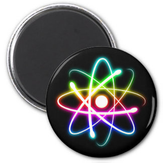 Colorful Glowing Atomics Science Magnet