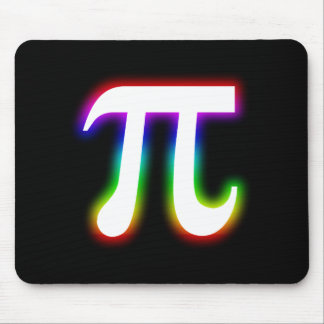 Colorful Glowing Pi | Math Mouse Pad