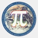 Colorful Glowing Pi - math sticker