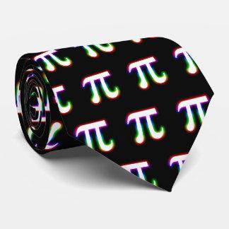 Colorful Glowing Pi Pattern   Geek Black Tie