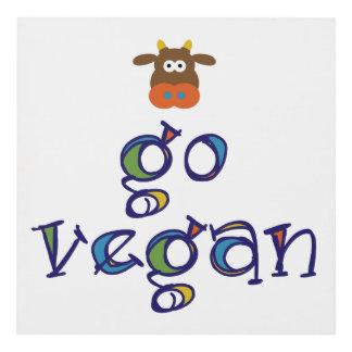 Colorful Go Vegan Panel Wall Art
