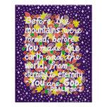 Colorful God Typography Bible Verse Poster