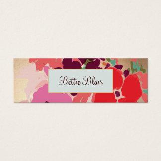 Colorful Gold Floral Makeup Artist Elegant Salon Mini Business Card