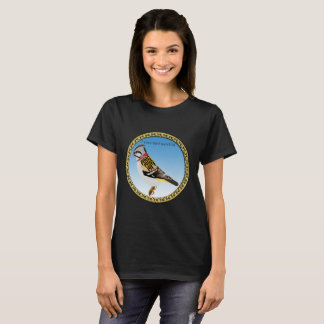 Colorful gold foil design yellow and brown sparrow T-Shirt