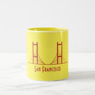 Colorful Golden Gate Bridge San Francisco Two-Tone Coffee Mug