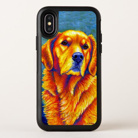 Colorful Golden Retriever Dog Otterbox Case