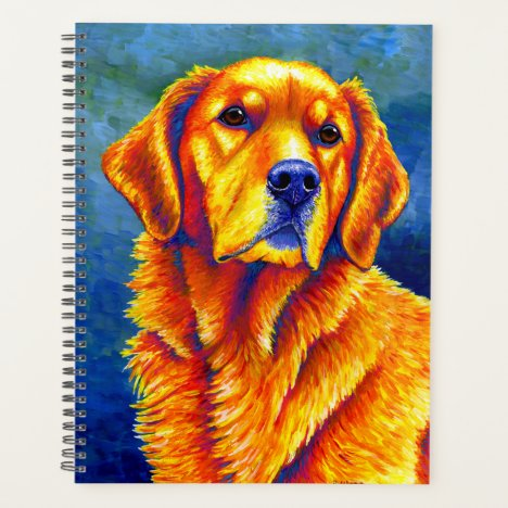Colorful Golden Retriever Dog Planner