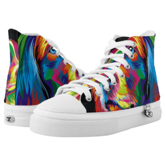 Colorful golden retriever High-Top sneakers