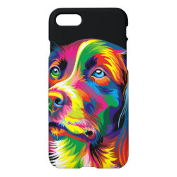 Colorful golden retriever iPhone 8/7 case
