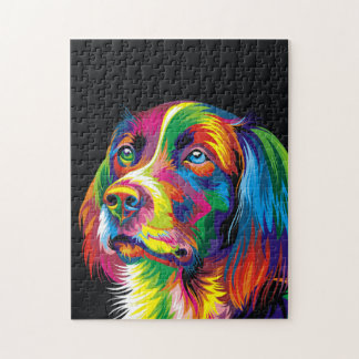 Colorful golden retriever jigsaw puzzle
