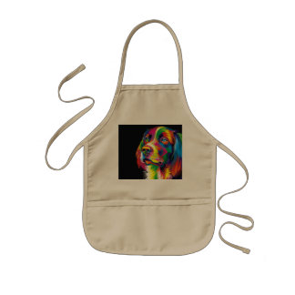 Colorful golden retriever kids' apron
