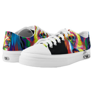 Colorful golden retriever Low-Top sneakers
