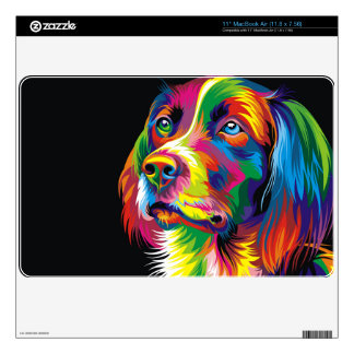 Colorful golden retriever skins for the MacBook air