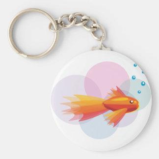 Colorful Goldfish Keychain