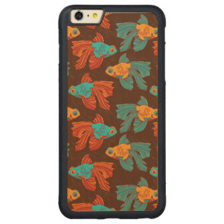 Colorful Goldfish Maple Wood iPhone Case. Carved® Maple iPhone 6 Plus Bumper Case