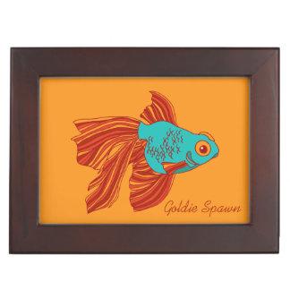Colorful Goldfish Wooden Keepsake Box