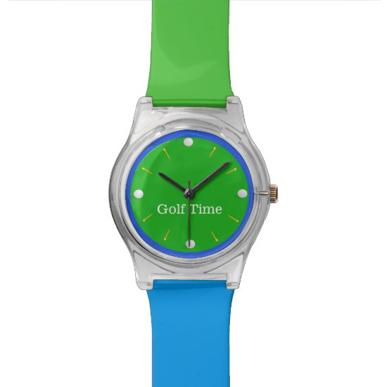 Colorful Golf Theme Custom Wrist Watch