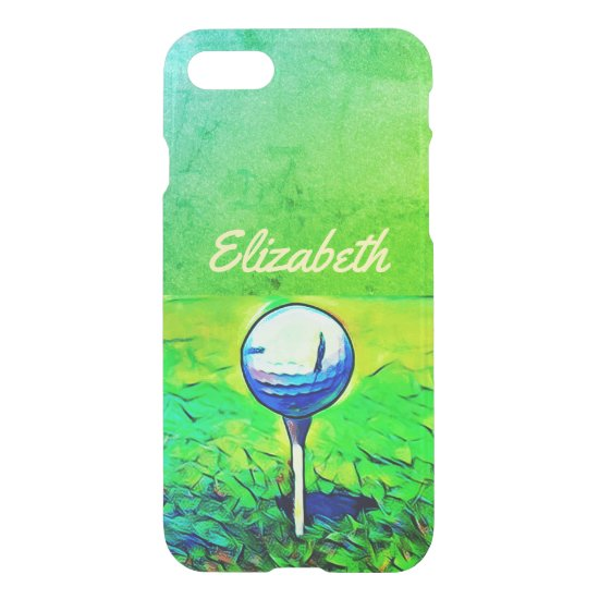 Colorful Golfing Sports Name Case