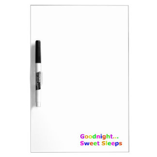 COLORFUL GOODNIGHT SWEET SLEEPS EXPRESSIONS HAPPY Dry-Erase BOARDS
