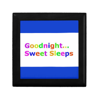 COLORFUL GOODNIGHT SWEET SLEEPS EXPRESSIONS HAPPY JEWELRY BOXES
