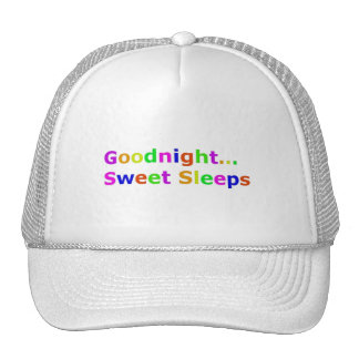COLORFUL GOODNIGHT SWEET SLEEPS EXPRESSIONS HAPPY TRUCKER HAT