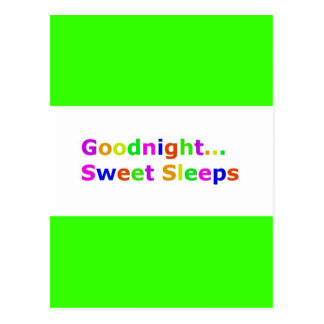 COLORFUL GOODNIGHT SWEET SLEEPS EXPRESSIONS HAPPY POSTCARD