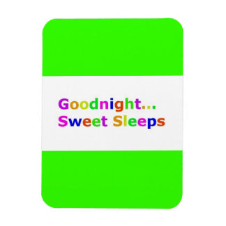 COLORFUL GOODNIGHT SWEET SLEEPS EXPRESSIONS HAPPY RECTANGLE MAGNET