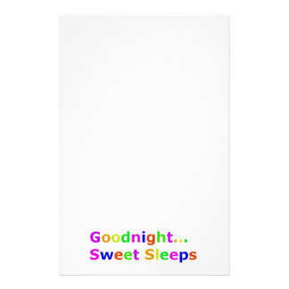 COLORFUL GOODNIGHT SWEET SLEEPS EXPRESSIONS HAPPY PERSONALIZED STATIONERY