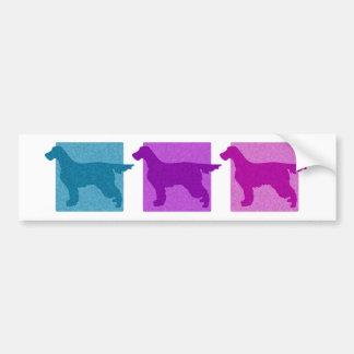 Colorful Gordon Setter Silhouettes Bumper Sticker