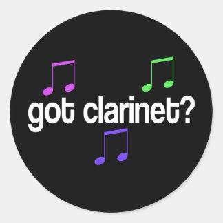 Colorful Got Clarinet Music Gift Sticker