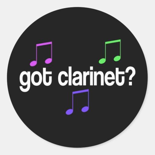 Colorful Got Clarinet Music Gift Classic Round Sticker
