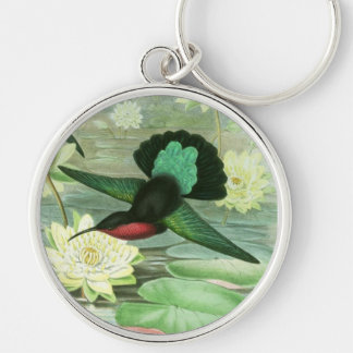 Colorful Gould Hummingbird Key Chain Keychain