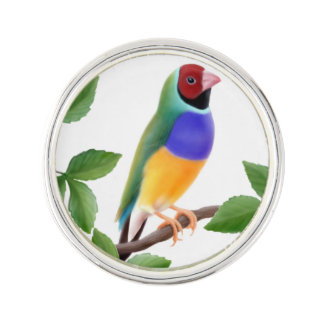 Colorful Gouldian Finch Lapel Pin