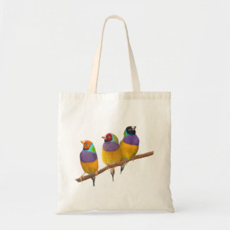 Colorful Gouldian Finches in Pastels Tote Bag