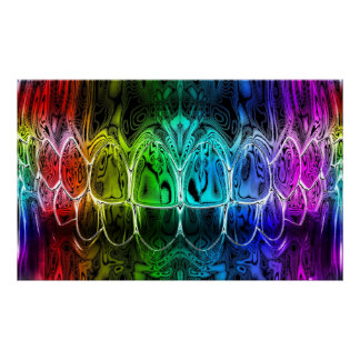 Colorful Gradient Perfect Smile Dentist Poster