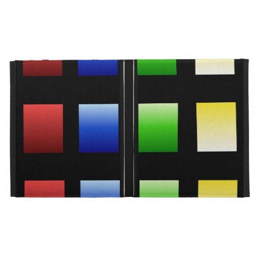 Colorful Gradient Squares iPad Case