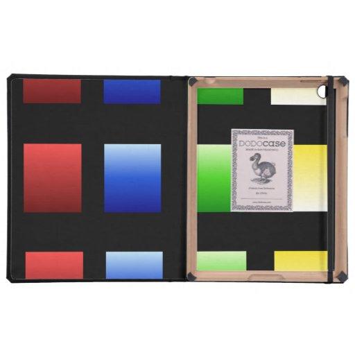 Colorful Gradient Squares iPad Cases