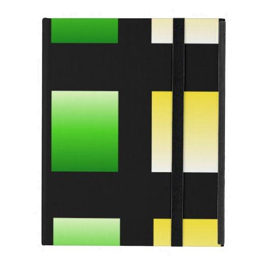 Colorful Gradient Squares iPad Folio Case