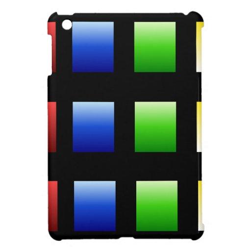Colorful Gradient Squares Case For The iPad Mini