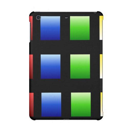 Colorful Gradient Squares iPad Mini Retina Cover