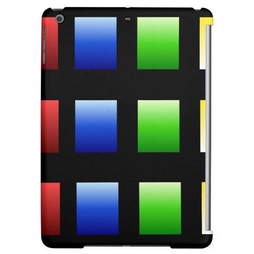 Colorful Gradient Squares iPad Air Case