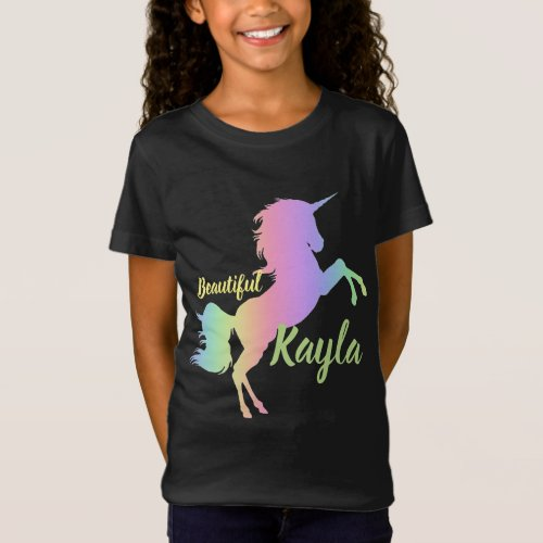 Colorful Gradient Unicorn T_Shirt