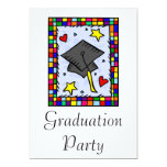 "Colorful Graduation 5"" X 7"" Invitation Card"