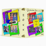 Colorful Graduation Memories Gold Tassel 3 Ring Binders