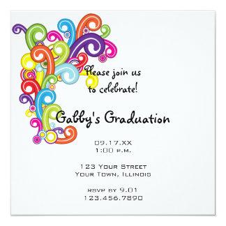 Colorful Graduation Party Invitation